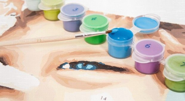 Upload a photo, order a personalized paint by number kit.