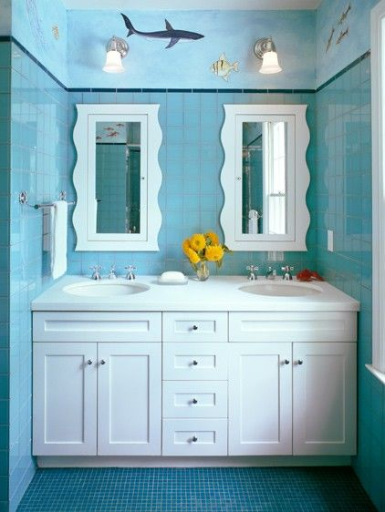17 best images about kids fish bathroom on pinterest for Fish themed bathroom