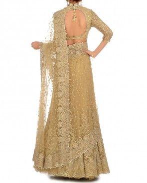 Gold Crystal Constellation Lengha Sari