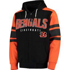 Men's G-III Sports by Carl Banks Black Cincinnati Bengals Kickoff Full-Zip Hoodie