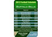 3.5x2.25 in One Team Buffalo Bills Football Schedule