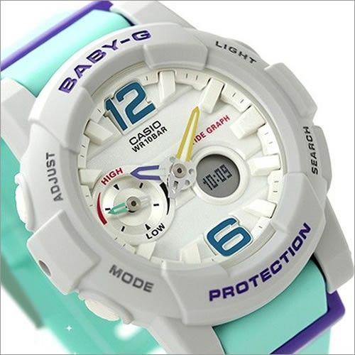 Casio Baby-G G-Lide Moon Tide graph Thermometer Sport Watch BGA-180-3B, BGA180