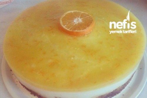 Portakal Jöleli Pasta Tarifi... portakal jölesi için:  3 çay bardağı portakal suyu 2 yemek kaşığı şeker (portakal eksi ise artırılabilir) 1. 5 yemek kaşığı nişasta yarım portakal kabuğu rendesi