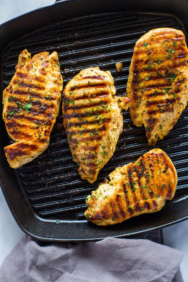 Learn how to make the best tender, juicy and delicious chicken breasts right on your stove-top in a grill pan or cast iron pan. I don't know where I'd be without grilled chicken. I gri…