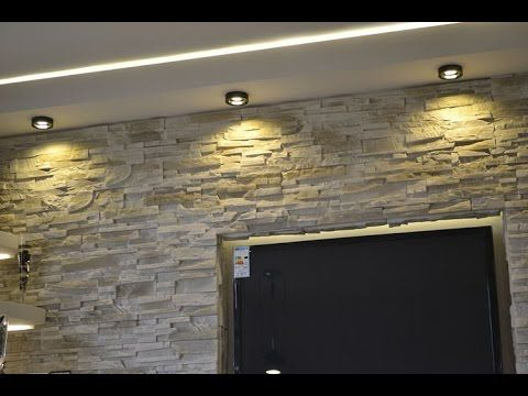 Stone decorative wall decor-4Great Ways To Use Them, TV in the stone wal...