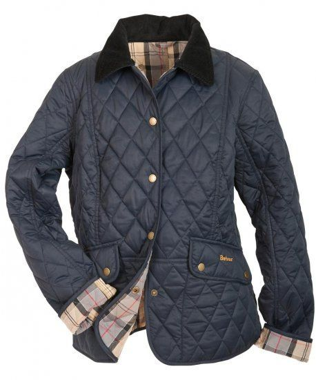 Barbour Kendal Quilted Jacket-Navy for Womens