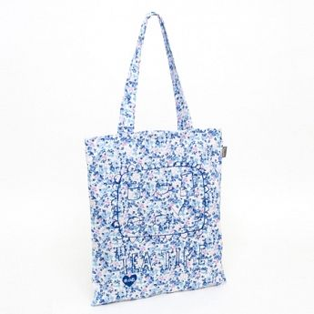 Talented Julia Gash Best of British Tea Time It's Tea Time flat tote blue