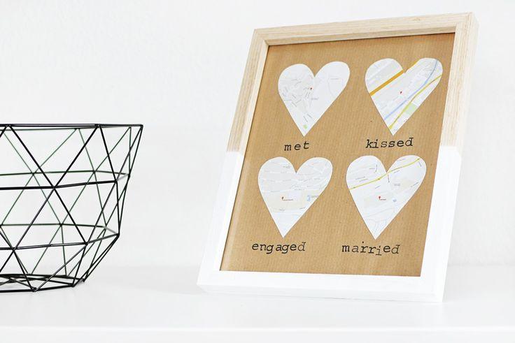 Geschenkideen zum Valentinstag: personalisierte Wanddeko