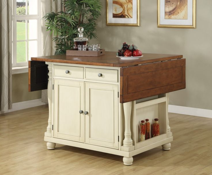 Furniture Elegant Kitchen Island With Trash Bin