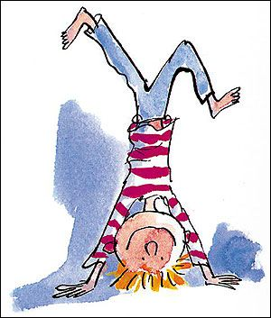 Quentin Blake's character Simkin. 1 of my favourite children's book illustrator of all time. Best known for his work with Roald Dahl.