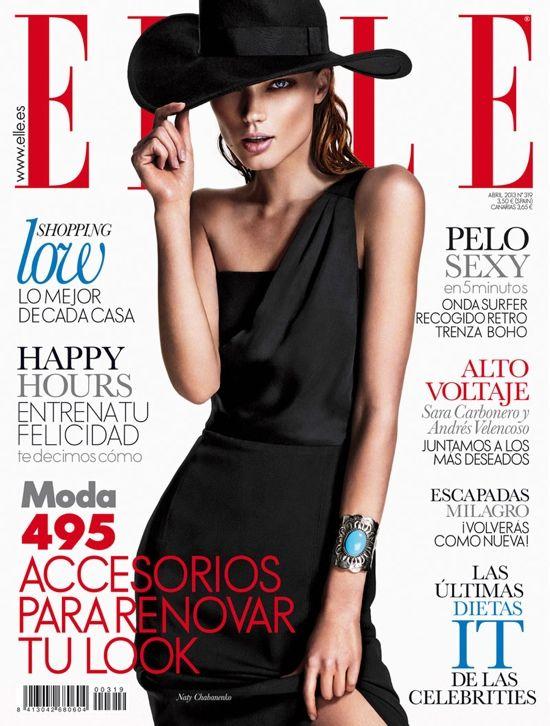 Elle Spain April 2013 Cover - Naty Chabanenko