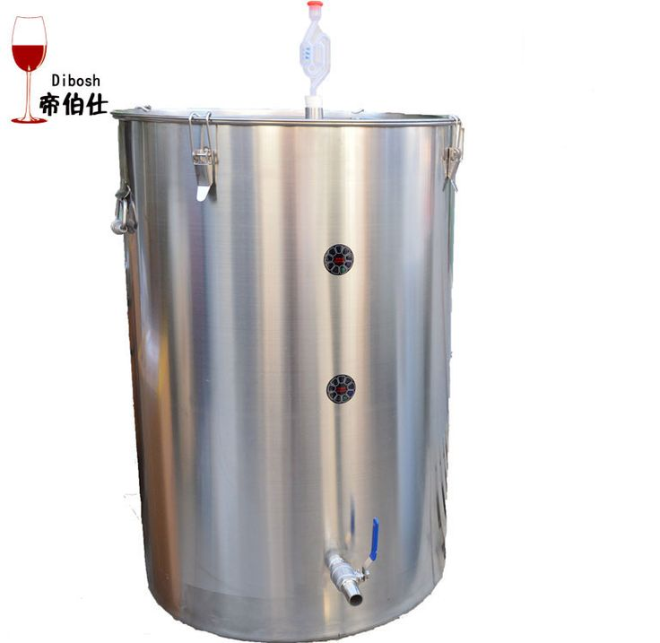 250L 304 Stainless Steel Bucket Home Brewing Barrel Wine Fermentor Buckle Lock Clip Beer Barrel Container Beer Barrel