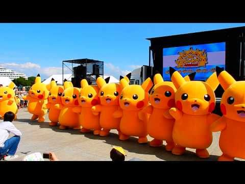 Pikachu event 2015 in Minatomirai, line dance