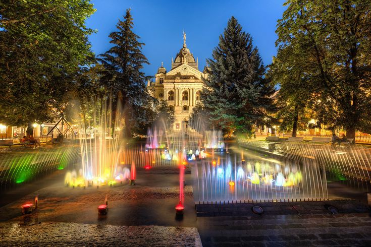 Singing Fountain in Kosice A really nice place to have a lovely relaxing moment. #kosice #slovakia