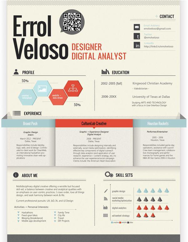 + Resume | Self Promotion by Errol Veloso, via Behance