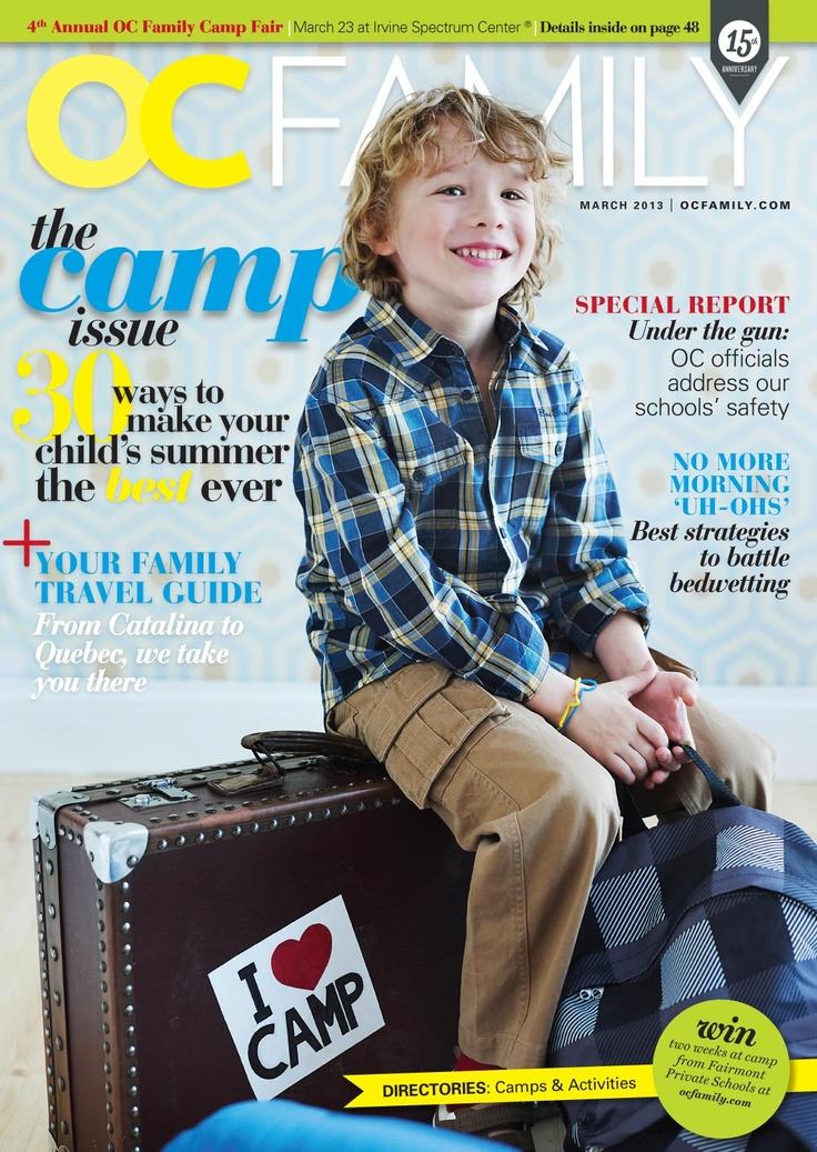 The March cover of OC Family magazine. #magazine #cover #design by @Monica Garrett