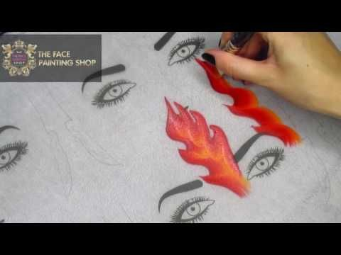 One Stroke Flames Face Painting Tutorial Part 2 | The Face Painting Shop