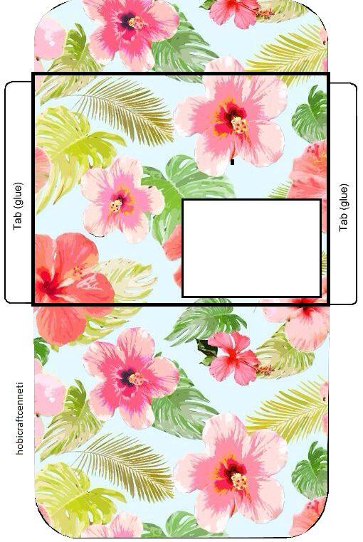 Hibiscus Flower And Leaf Hawaiian Aloha Tropical Envelope Printable Envelopes