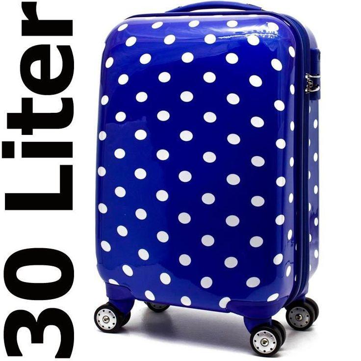 Maleta De Viaje Equipaje De Mano Con Ruedas Y Candado De Cifras Azul 30 Litros