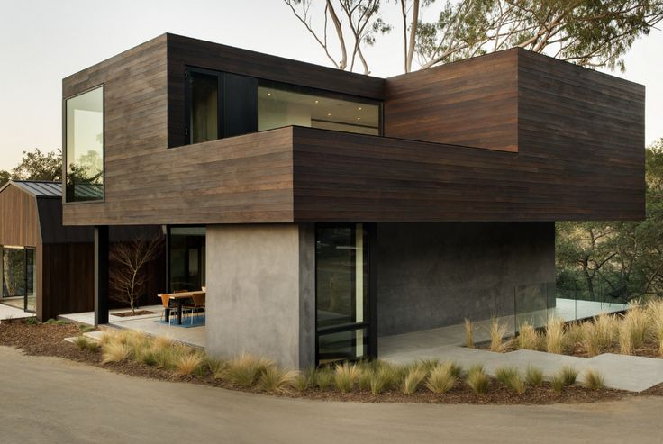 ...---===||===---... Oak Pass Guest House by LA based Walker Workshop Design Build.