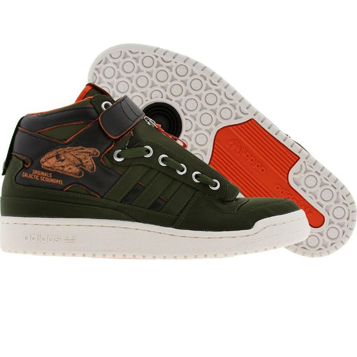 Adidas Forum Mid SW - Star Wars Han Solo (green / black / orange)