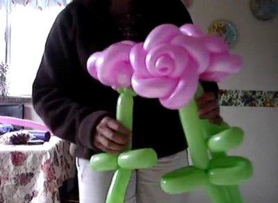 Globoflexia Rosas hechas con globos paso a paso