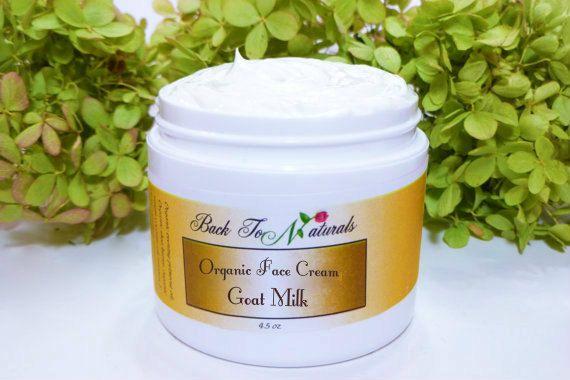 Organic Face Cream Homemade Goat Milk Face by backtonaturals
