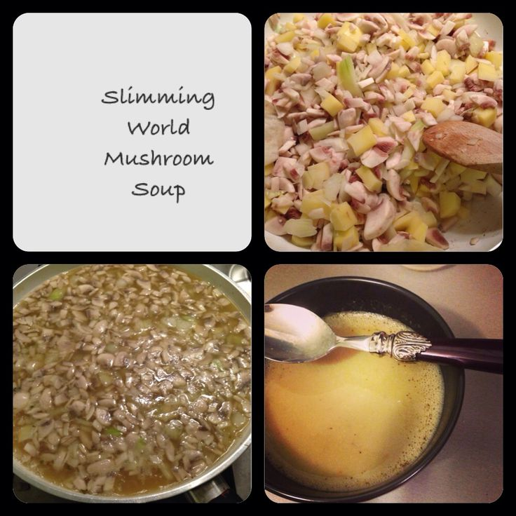 Homemade slimming world mushroom soup - syn free. 1.5litres of veg stock, one large potato, one onion and 500g mushrooms cooked for 20 minutes and then blended!