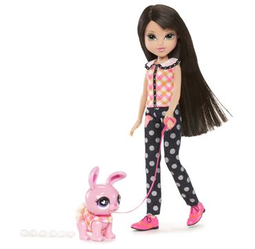 Moxie Girlz™ Poopsy Pets are cute—and just like magic, they have silly poop! Lexa has a pet bunny that magically poops glitter!  Bonus! Doll can really sit and stand on her own, no doll stand required!