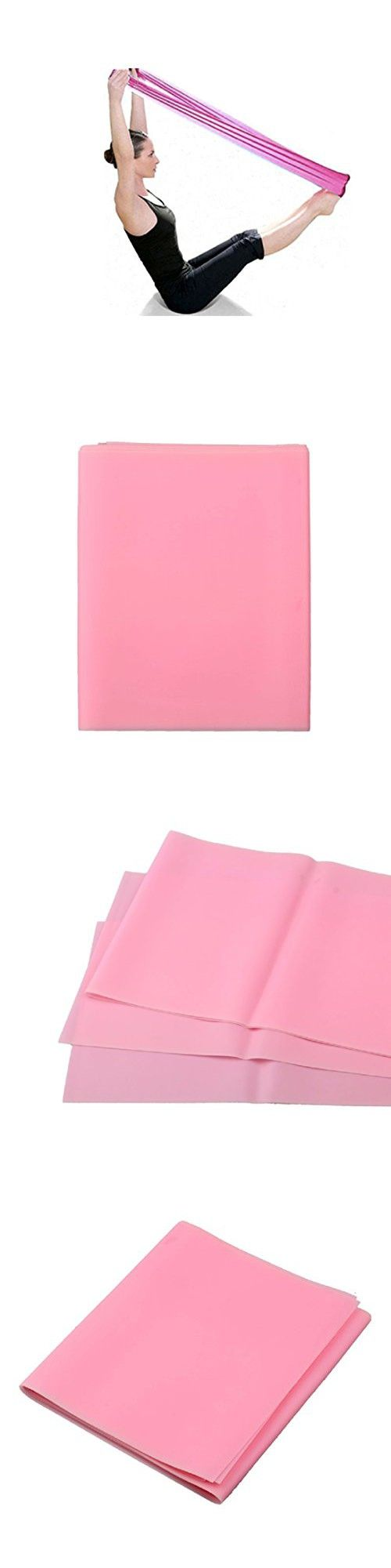 Sunward New Multi-grip Stretch Pilates Yoga Workout Aerobics Stretch Band Strap Belt Tensile Adjustable Elastic Band (Pink)
