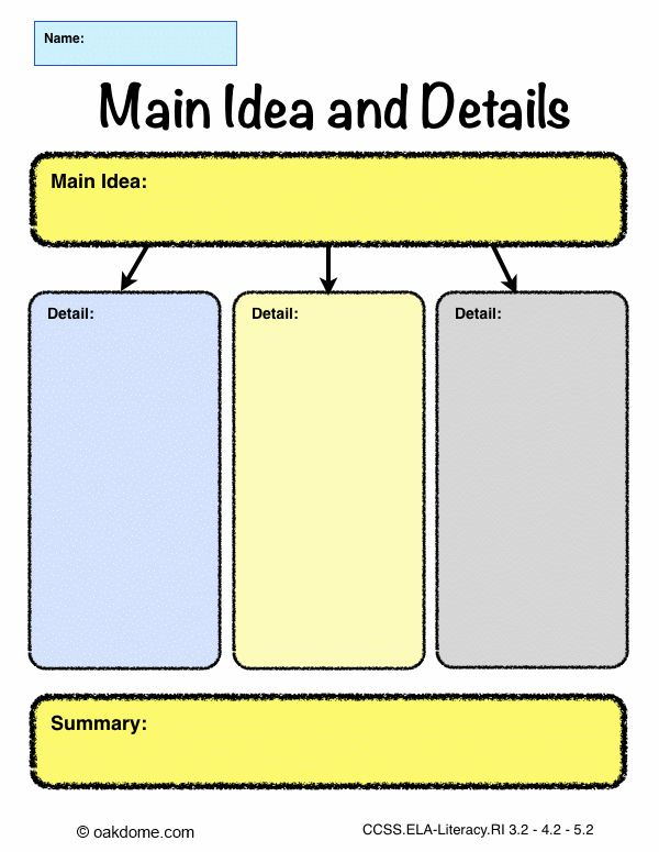 free graphic organizer templates - ipad graphic organizer main idea and details pages