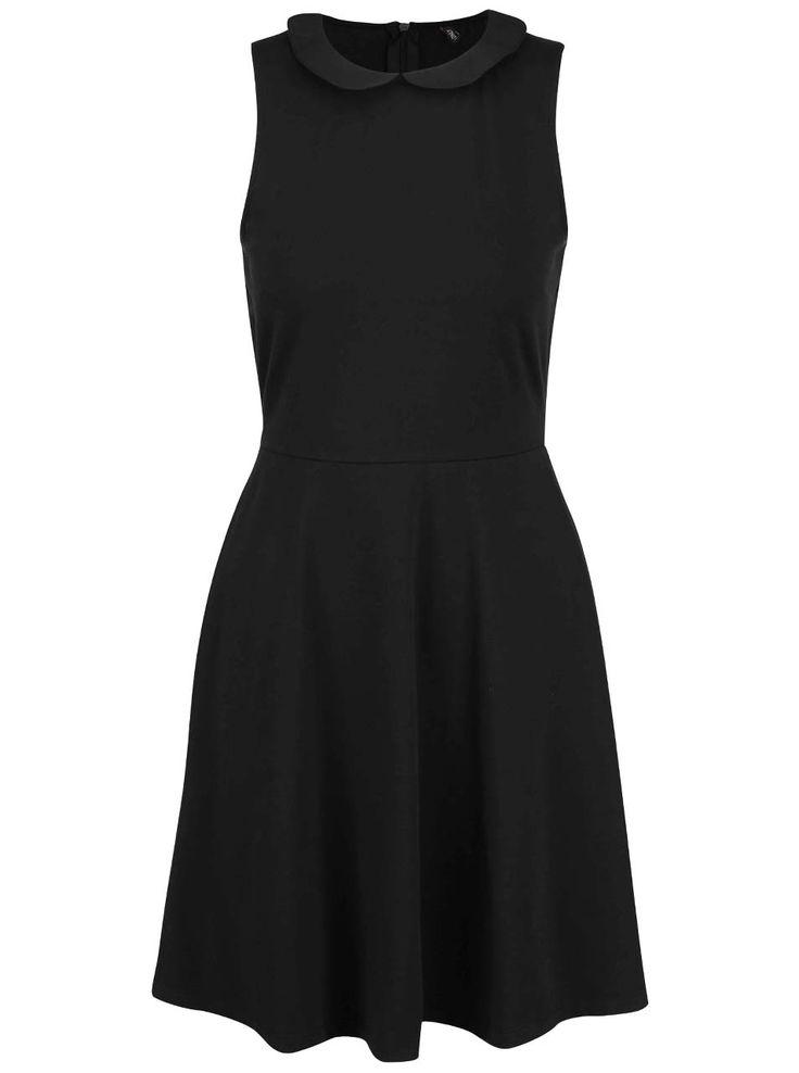 Černé šaty s kulatým límečkem ONLY Niella