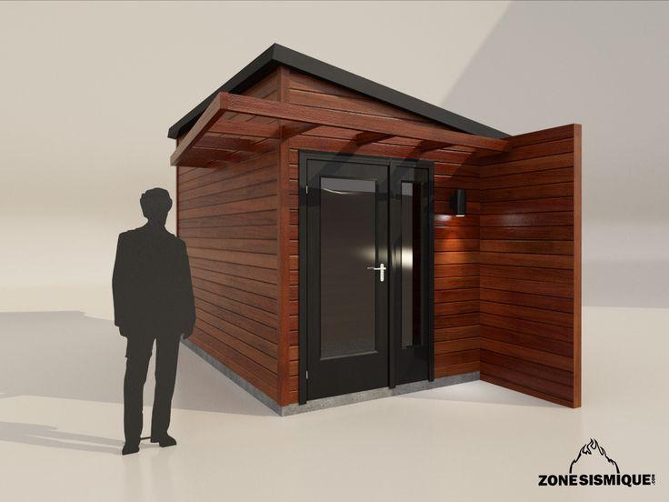 Zone sismique cabanon moderne design 2014 v1 cabanon for Porte de cabanon en bois