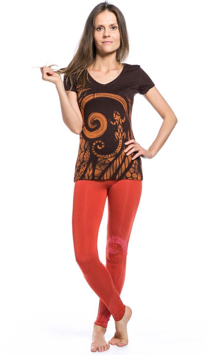 Леггинсы красные для йоги INSPiRAL - мягкие, плотные и супер удобные! 2430 рублей http://indiastyle.ru/products/legginsy-5277
