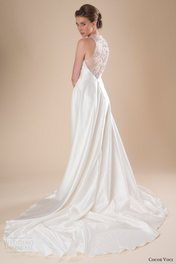 cocoe voci wedding dresses spring 2014 piper sleeveless gown illusion back