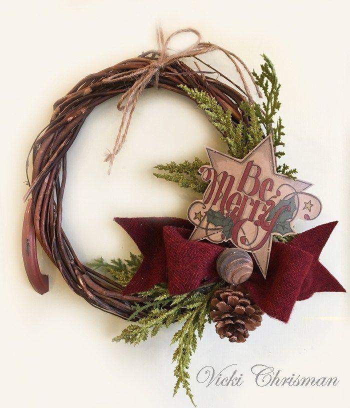 Christmas Wreath by Vicki Chrisman | www.tammytutterow.com