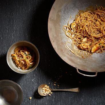 Orange-Peanut Chicken And Pasta Bowl