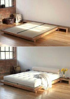 japanisches schlafzimmer japanische inneneinrichtung zen schlafzimmer ideen bettwsche japanischer minimalismus bodenbetten stil - Bett Backboard Ideen