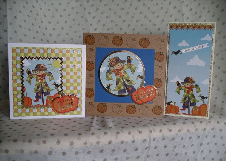 Hunkydory Patchwork Pumpkin - We made these cards using Hunkydory Crafts Thoughts of Autumn A4 Luxury Topper Set Patchwork Pumpkin and Pumpkin from Inky Doodles Autumn Garden Stamp Set