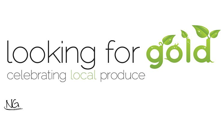 A logo for a pop-up festival centred around a celebration of local food