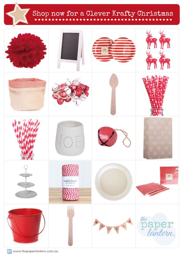 Shop Now in store for everything you need to make your Clever Kraft Christmas come to life | The Paper Lantern |