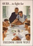 freedom from wantArtnorman Rockwell