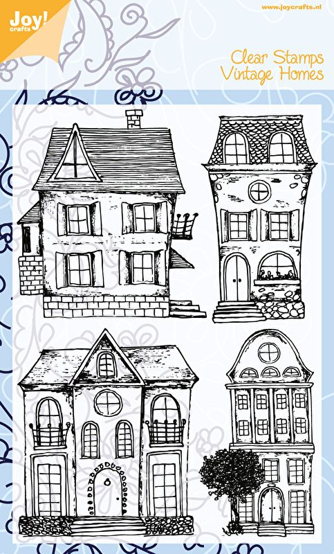 6410/0395 Noor! Design Stempelset Vintage Huizen