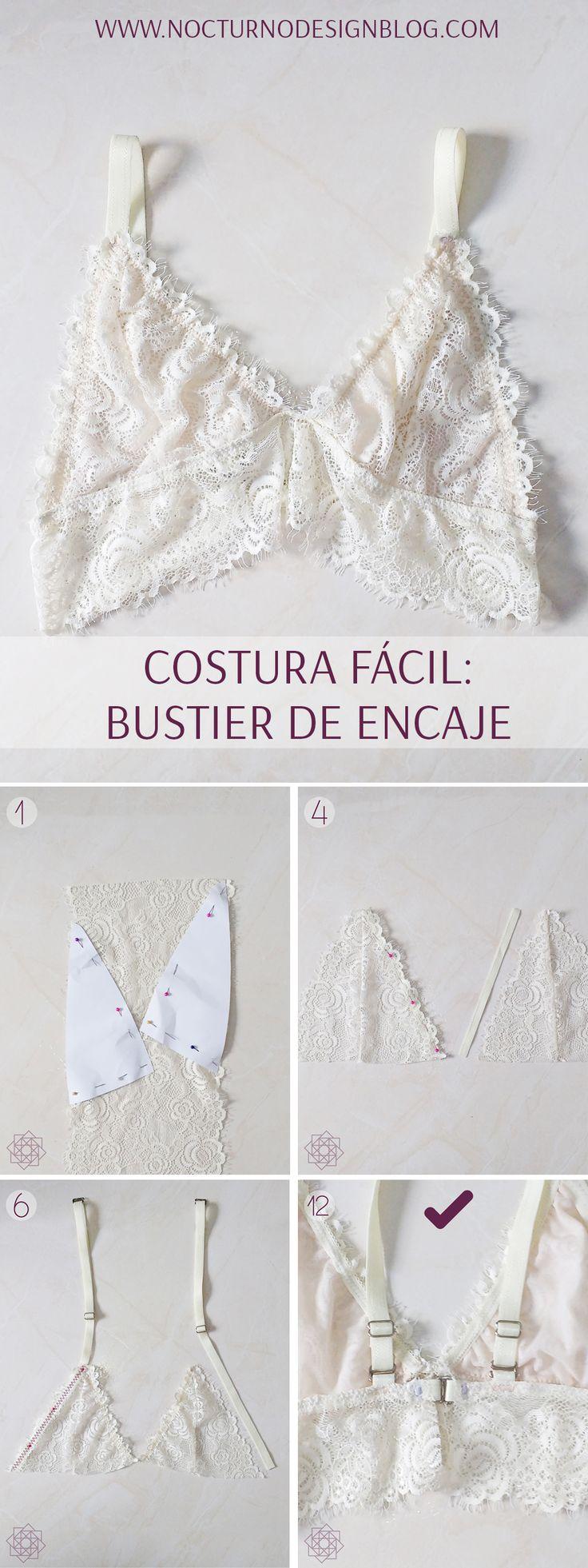 Costura fácil: Bustier en encaje.