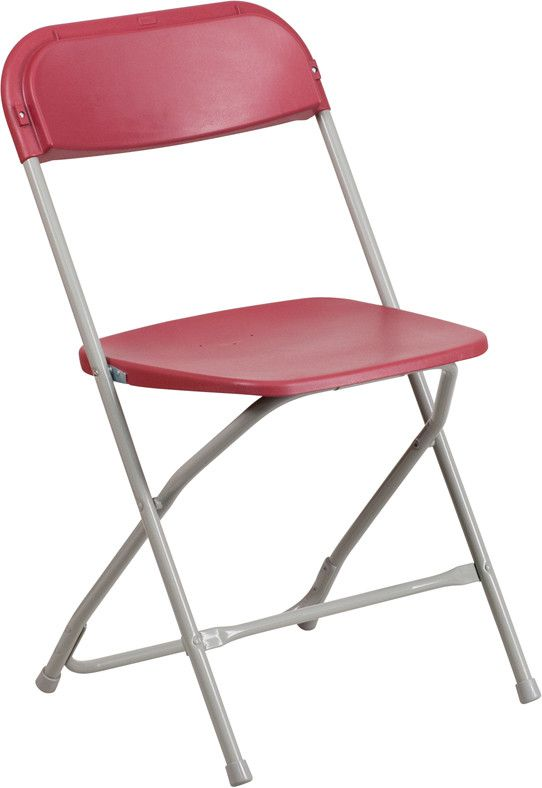 Flash Furniture HERCULES Series 800 Lb Capacity Premium Red Plastic Folding Chair