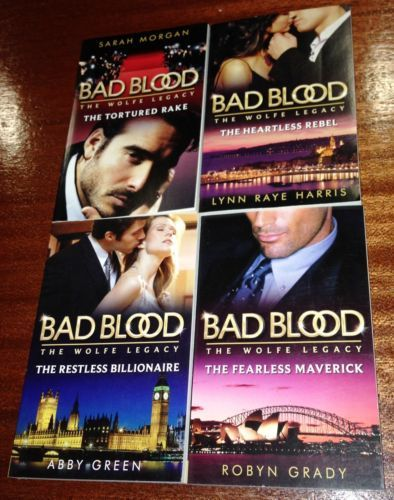 4 NEW Mills AND Boon BAD Blood THE Wolfe Legacy Romance Book Series – Bulk 201 | eBay