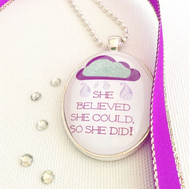 inspirational quote necklace, #makeforgood fundraising design, believe, silver glitter cloud pendant - pinned by pin4etsy.com