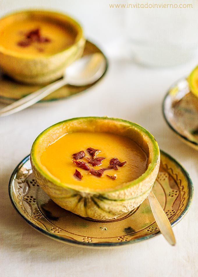 Gazpacho de melón | Recetas con fotos El invitado de invierno https://www.pinterest.com/pin/506232814342578422/
