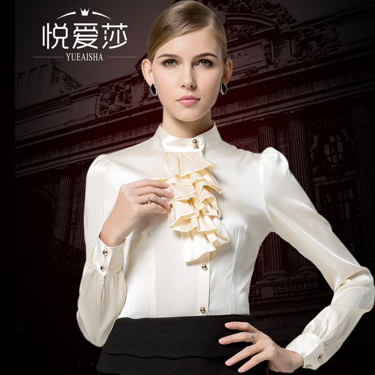 2017 spring autumn new women fashion blouses clothing high quality silk shirt stand collar silk shirt female long-sleeve slim <3 AliExpress Affiliate's Pin. Click the VISIT button to view the details