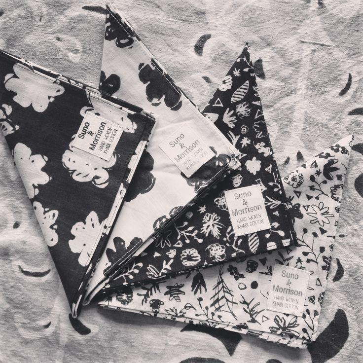 Suno & Morrison  khadi × print handkerchief